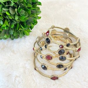 Set of bangles (8) Costume Jewelry, Gold